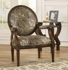 Martinsburg Wood Trim Accent Chair | Ashley | Home Gallery Stores