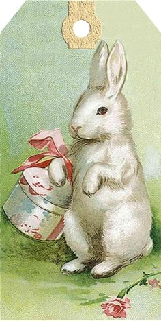 Vintage Easter Bunny Tag
