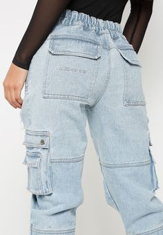 3bb99518 21 Best denim cargo pants images | Woman fashion, Fashion outfits, Wraps