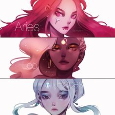 ✨Speed practice pt. 2 -- again 1 hour each (post 10 minutes color adjustment & text) - Also thank you so much for 12k!! I really appreciate the all the support  - #zodiac #girls #aries #leo #pisces