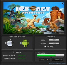 Today I would to like show to you Ice Age Adventures Hack. This is a great tool you will be generate a lot of coins and acoms. Check it by download the hack. You do not have to spend their their real money.   http://wazzupgames.com/ice-age-adventures-hack-ios-download/