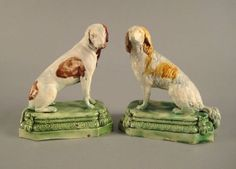 276: Pair of Ralph Wood Staffordshire figures 1790