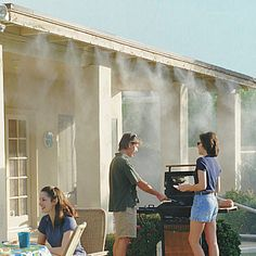 backyard decor system suggestion mister misting patio brilliant