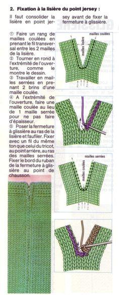 Tuto : Comment coudre une fermeture éclair sur un tricot