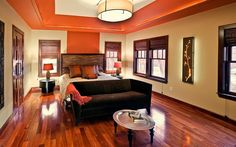 Color that carries up to ceiling relief/trim - not in orange!
