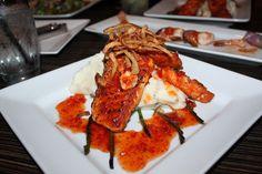 Salmon and Potato with Chili sauce from Samba Brazilian Steakhouse