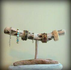 Driftwood Bracelet Display Bracelet Organizer by DriftingConcepts