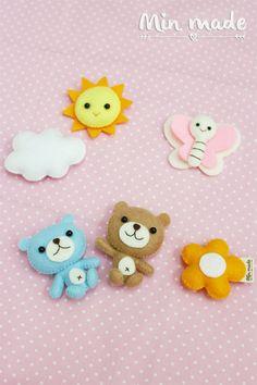 Bear mobileBearTeddyBear dollTeddy bearBaby by MinmadeCute on Etsy