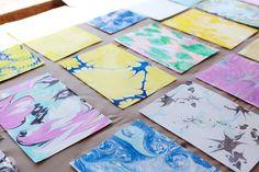DIY marbled paper workshop | thinkmakeshareblog.com