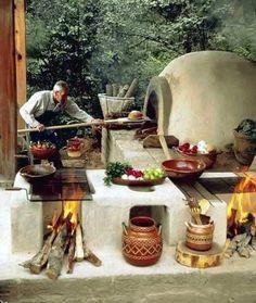 Fotoğraf: Hey gidi günler....Soma'daki evimizin bahçesinde aynı böyle bir fırınımız vardı..... h.ö.