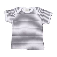 Made from super-soft certified organic cotton these cute t-shirts are nice and light for summer and great for winter layering. The soft gray and white stripes m Cute Tshirts, Striped Shorts, Grey Stripes, Grey And White, Organic Cotton, Shops, Sleeve, T Shirt, Baby