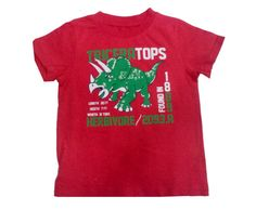Export Surplus Brand T Shirt Red Colour Printed For Boys www.clothing-deck.com
