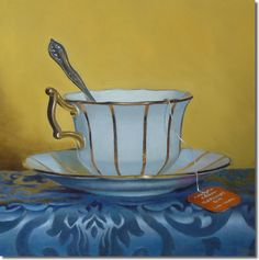 Golden Teacup by Jeff Hayes