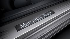 Illuminated door sills welcome you aboard. Lease one with Premier Financial. #Mercedes #Luxury #Mercedes