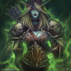 ArtStation - Sylvanas World of Warcraft Legion (Fan art), julian del Rey