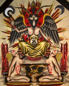 Got Baphomet? – The New Church of Satan Satanic Tattoos, Satanic Art, Magick, Witchcraft, Devil Tattoo, Occult Art, Occult Symbols, Magic Symbols, Demonology