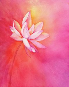 the style saloniste: Exclusive to The Style Saloniste: Painted Worlds, First Look — Michael Duté's Bold Brushstrokes Watercolor Print, Watercolor Paintings, Brush Stroke Tattoo, Lotus Garden, Lotus Painting, Cute Pastel Wallpaper, Lotus Art, Acrylic Flowers, Diy Canvas Art