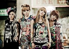 Kind of obsessed with 2NE1 - a Korean girl group. They're the only ones who don't show their cooches for money. #BADASS
