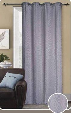 With Love Home Decor - Nova Silver Grommet Window Curtain Panel 58x90