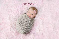 Crochet Pattern Swaddle Sack  Baby Cocoon by TiedinKnotsCrochet