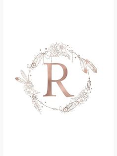 r letter 'Letter R Rose Gold Pink Initial Monogram' Spiral Notebook by naturemagick Gold Wallpaper Background, Rose Gold Wallpaper, Name Wallpaper, Monogram Tattoo, Monogram Letters, Monogram Initials, Letter R Tattoo, Monogram Notebook, Monogram Wallpaper