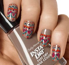 LOVE this nail art tutorial (with the used colors listed) from Sally Hansen.
