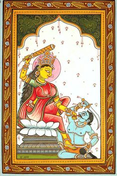 Mahavidya Bagalamukhi Pulls The 'Evil Tongue' (Ten Mahavidya Series)