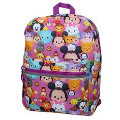 Disney Tsum Tsum Stack on Stacks Large School Backpack with Lunch Bag Bundle Cute Backpacks For School, Kids Backpacks, Justice Backpacks, Disney Store Japan, Bag Pins, Tsumtsum, Insulated Lunch Box, Disney Tsum Tsum, Disney Sweaters