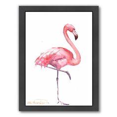 Americanflat Flamingos 2 Framed Painting Print & Reviews   Wayfair
