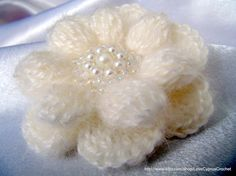 Crochet Flower PATTERN-Crochet Brooch-DIY Gift-Mohair-Flower