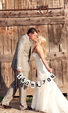 Great way to thank your guests, maybe your bride, or indeed the groom