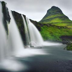 MAGIC ICELAND  One of the many brethtaking waterfalls in beautiful Iceland.  #chrisherzog #iceland #kirkjufell #landscape_lovers #landscape_captures #landscape #stunning_shots  #awesomeearth #discoverearth #discoverglobe #magic_shots #magicworld #travelpics #reisefotografie #awesome_earthpics  #wasserfall #waterfall #amazingnature # #montain #berg #landschaftsfotografie #water #wasser # #erfrischend  #refreshing #stunningview