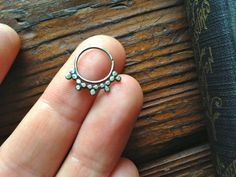 Sterling Septum Ring by DinanRings on Etsy, $20.00