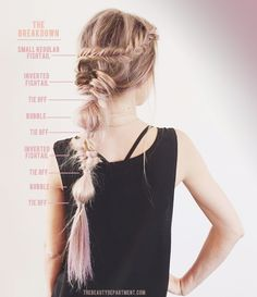 champagne and rose colored braid hair the beauty department