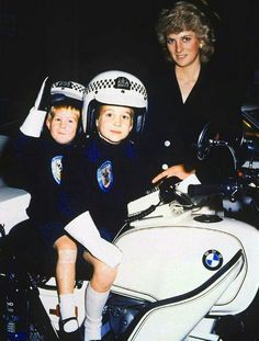 Diana and her boys, 1980's