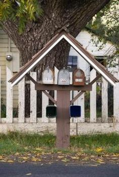 Homemade Mailbox Ideas | ... the newspaper holder under your mailbox for more…
