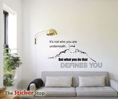 BATMAN QUOTE - IT'S NOT WHAT YOU ARE UNDERNEATH WALL STICKER DECAL - INSPIRATON