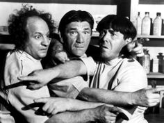 Shemp, Larry, and Moe- Three Stooges