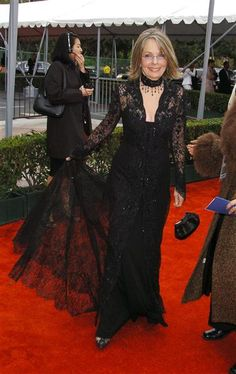 Not seen very often: Diane Keaton in lace at the 2004 Screen Actors Guild Awards