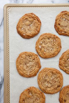 Salted Brown Sugar Toffee Cookies | Annie