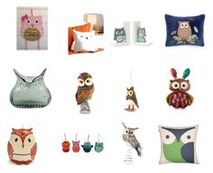 """Fun Owl Decor"" by suesakornshop ❤ liked on Polyvore featuring interior, interiors, interior design, home, home decor, interior decorating, Reed & Barton, Martha Stewart, Kim Rogers and Sur La Table"