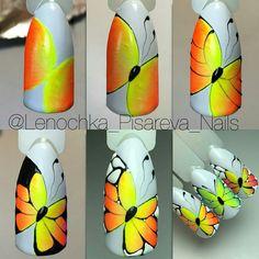 Spring Nail Art, Spring Nails, Butterfly Nail Art, Painting Lessons, Nail Tutorials, Diy Nails, Nail Art Designs, Health And Beauty, Instagram Posts
