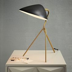 Curvilinear Mid-Century Table Lamp #westelm  ~ Great pin! For Oahu architectural design visit http://ownerbuiltdesign.com