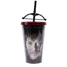 Walking Dead Crossbow Tumbler Carnival Cup with Crossbow on Straw JUST FUNKY http://smile.amazon.com/dp/B00QHOU91I/ref=cm_sw_r_pi_dp_9zEQvb0YSHKB8