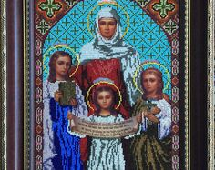 Icon Of Saint Sophia And Her Three Daughters: Faith, Hope And Love