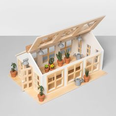 for Lila's room 😍 Wooden Toy Greenhouse - Hearth & Hand™ With Magnolia : Target Hamsters, Wooden Greenhouses, Wooden Dollhouse, Diy Dollhouse, Holidays With Kids, Wood Toys, House In The Woods, Toddler Toys, Hearth