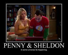 Sheldon and Penny Kiss   Penny and Sheldon by KudasNikon