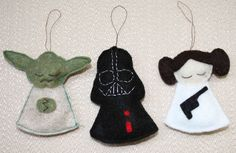 Star Wars felt ornaments