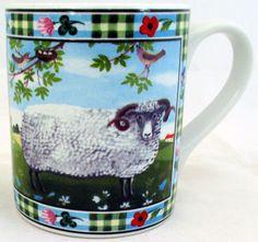 Ram Mug Exclusive Funny & Cute Sheep Farm Scene Porcelain Mug Hand Made in UK #RainbowDecorsLtd #ArtDeco