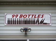 Sign for the 99 Bottles house in Oxford, Ohio. Bottle House, Miami University, Ohio, Bottles, Oxford, Signs, Columbus Ohio, Shop Signs, Oxfords
